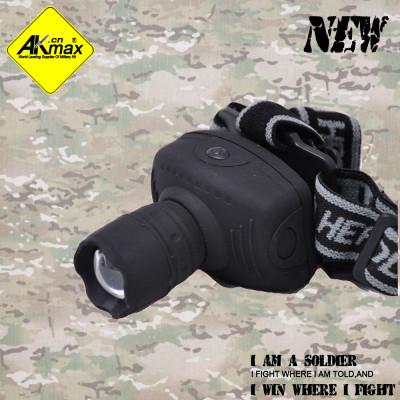 Akmax high quality camping flashlight headlamps