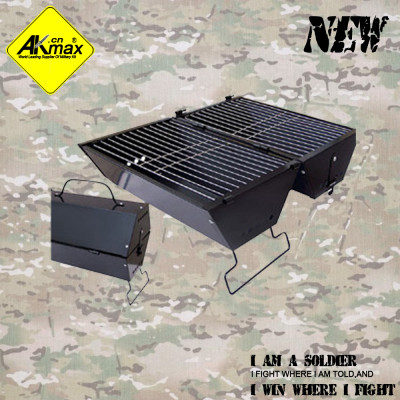 Akmax foldable BBQ grill double faced ovations