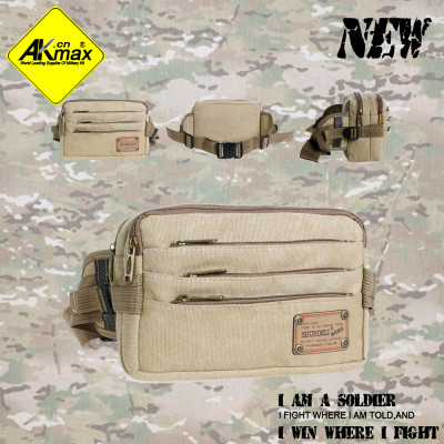 Akmax new arrival canvas travel waist pack