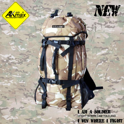 Akmax fashion large capacity travel bag camping backpack hiking bag