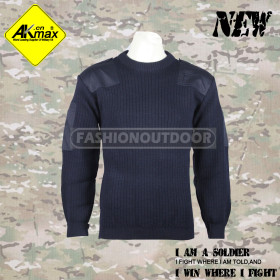 Akmax  navy blue wool military sweater for Eskimo high quality