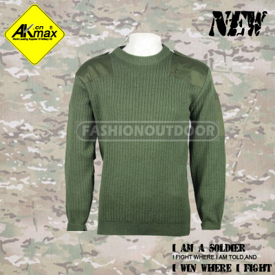 Akmax military sweater olive green and original Army style for U.S government