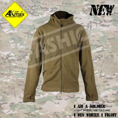 AKMAX  Khaki jacket military coat warm jacket fashion jacket with fleece