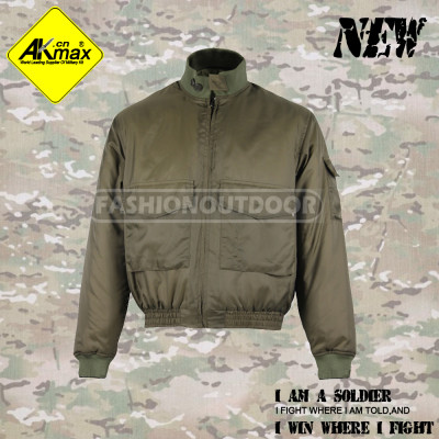 AKMAX  drab green  military jacket army coat warm coat with filling cotton  for army