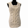 Lady's Hand-knitted Sleeveless Wool Pullover