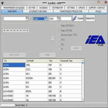 ZED-Bull ZEDBULL V502 Transponder Clone Key Programmer Tool