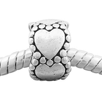 Vnistar antique silver cheap heart spacer beads PBD1016, 8*11mm, 20pcs per pack