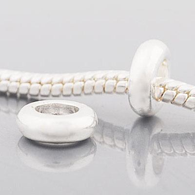 Free Shipping! Vnistar european style metal spacer beads PBD3328-1, size in 3*9mm and fit 3mm snake chain bracelet, sold as 50 each pack