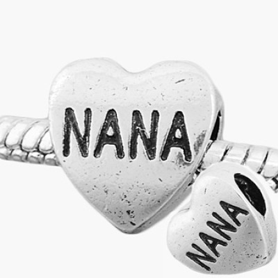 Antique silver plated european style heart NANA beads PBD163, free shipping round beads in 11*11mm, sold as 20pcs each pack