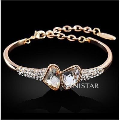 Free shipping! Fashion crystal bracelet, bracelet bangle, irregular shape crystal, VB009, diameter is 6cm, sold as 3pcs each pack