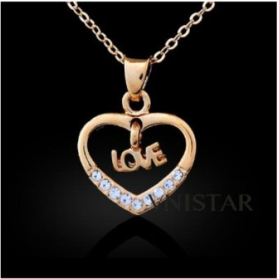 Free shipping! Fashion necklace, heart shaped pendant with LOVE dangle charm, DZ202, pendant size 15*20mm, sold as 3pcs each pack