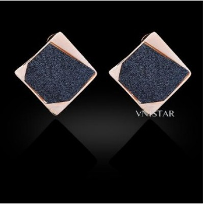 Free shipping! Stud earrings, square stud earring, VE391, size in 30*30mm, sold in 2prs per pack