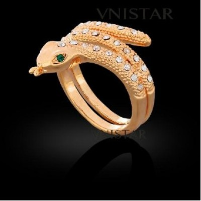 Free shipping! Fashion jewelry ring, snake ring, VR333, size is unadjustable, sold in 2pcs per pack