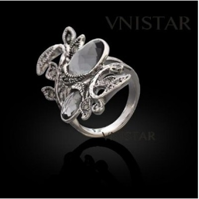 Free shipping! Fashion crystal rings, olive branch ring with oval crystal, VR346, unadjustable size, sold in 2pcs per pack
