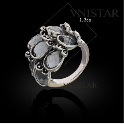 Free shipping! Fashion crystal rings, teardrop crystal, VR345, unadjustable size, sold in 2pcs per pack