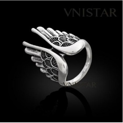 Free shipping! Vnistar rings, fashion jewelry ring, wing shaped ring, VR344, unadjustable size, sold in 2pcs per pack