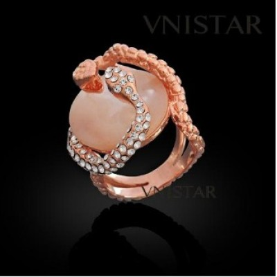 Free shipping! Fashion jewelry ring, snakes ring with oval shell, VR341, unadjustable size, sold in 2pcs per pack