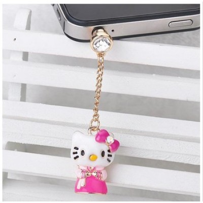Free shipping! Vnistar pink anti dust plug FCS020 with a pink cat pendant, size in 51mm,sold in 5pcs per pack