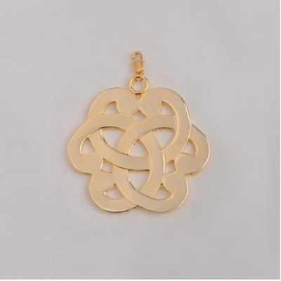 Free shipping! Wholesale high quality real 18k gold plated big flower clasp charms HCC303-2, sold in 3pcs per pack