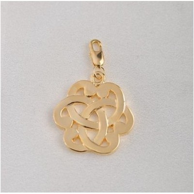 Free shipping! Wholesale high quality real 18k gold plated flower clasp charms HCC302-2, sold in 10pcs per pack