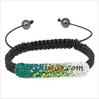 Free shipping! Wholesale vnistar arc-shaped bar bead bracelet SBB281-12, sold in 2 pcs per pack