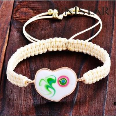 Free shipping! Macrame bracelet, heart shaped bead bracelet, SBB336, heart size 22*37mm , sold in 5set per pack