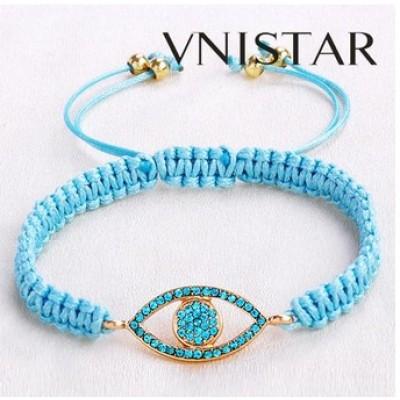 Free shipping! Macrame bracelet, eye shaped bead bracelet, SBB333, eye size 15*36mm,  sold in 5pcs per pack