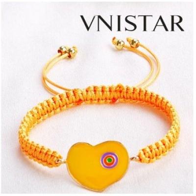 Free shipping! Macrame bracelet, heart shaped bead bracelet, SBB335, heart size 22*36mm,  sold in 5pcs per pack