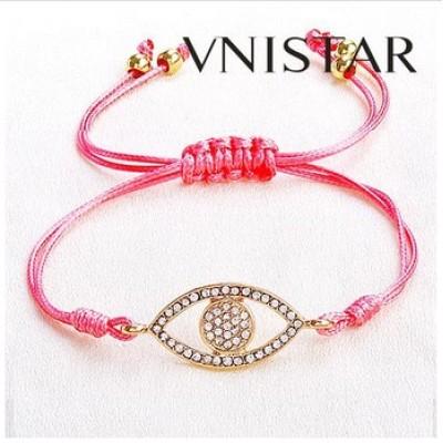 Free shipping! Wholesale Macrame bracelet, eye shaped bead bracelet, SBB332, eye size 15*30mm,  sold in 5pcs per pack