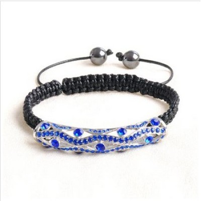 Free shipping! Wholesale macrame bracelets SBB329-3 with purple stones ,  sold in 2pcs per pack
