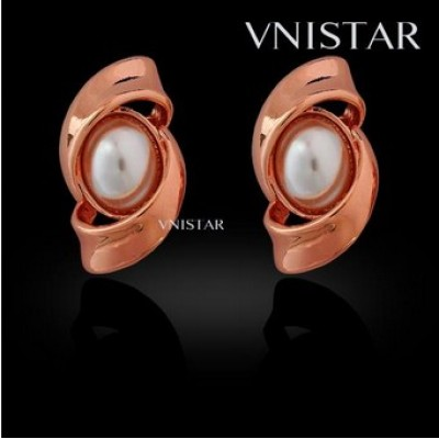 Free shipping! Fashion earrings, stud earring, pearl earring, VE431, size in 14*25mm, sold in 2prs per pack