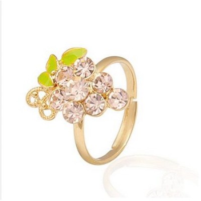 Free shipping! Fashion jewelry rings, grape ring, JZ221, adjustable size, sold in 10pcs per pack
