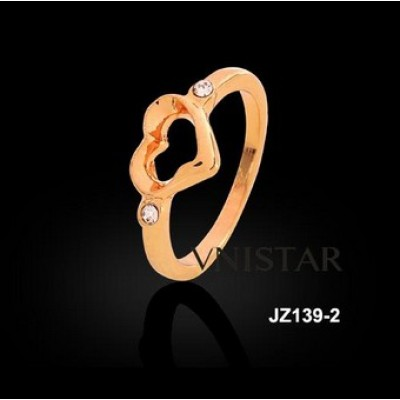 Free shipping! Fashion jewelry rings, heart ring, wedding ring, JZ139-2, unadjustable size, sold in 5pcs per pack