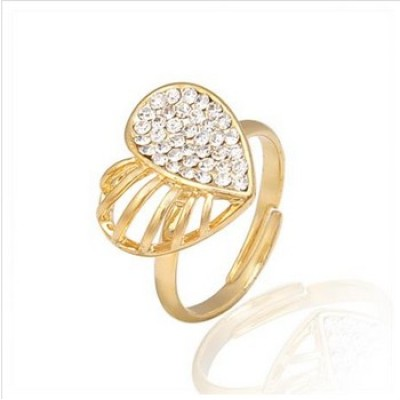 Free shipping! Fashion jewelry rings, heart ring, wedding ring, JZ194, adjustable size, sold in 10pcs per pack