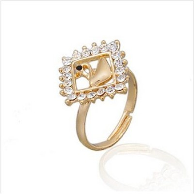 Free shipping! Fashion jewelry rings, swan ring, JZ240, adjustable size, sold in 10pcs per pack