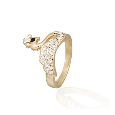Free shipping! Fashion jewelry rings, swan ring, JZ239, unadjustable size, sold in 10pcs per pack