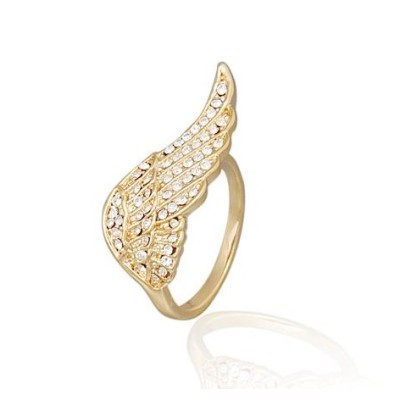 Free shipping! Fashion jewelry rings, angel wing ring, JZ238, unadjustable size, sold in 10pcs per pack