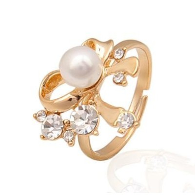 Free shipping! Fashion jewelry rings, bowknot ring with heart, JZ232, adjustable size, sold in 10pcs per pack