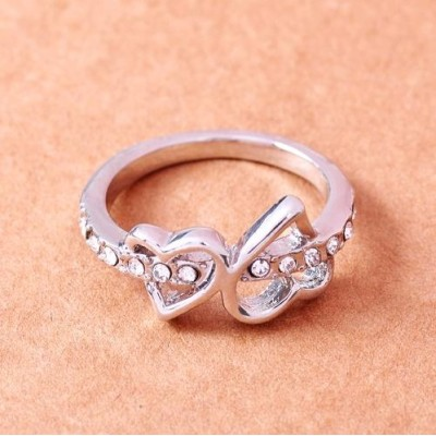 Free shipping!Fashion jewelry rings, hearts ring, wedding ring, JZ146, unadjustable size, sold in 10pcs per pack