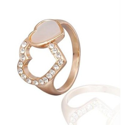 Free shipping! Fashion jewelry rings, hearts ring, heart shaped cat eye stone, JZ199, unadjustable size, sold in 5pcs per pack