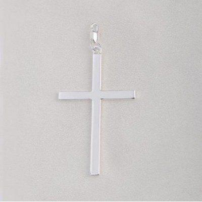 Free shipping! Wholesale high quality double silver plated big cross clasp charms HCC299-1, sold in 5pcs per pack