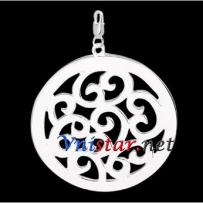 Free shipping! Wholesale high quality double silver plated clasp charms HCC256-1, sold in 3pcs per pack