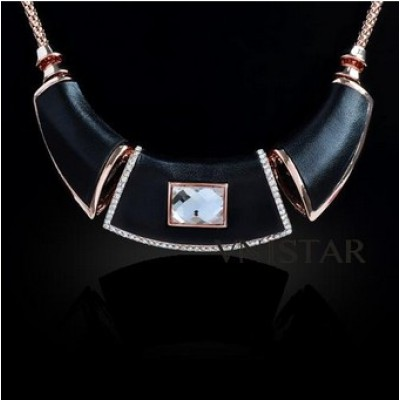 Free shipping! Fashion crystal necklaces, statement necklace, rectangle crystal, spacer beads, VN400, length in 38cm, sold in 2 pcs per pack