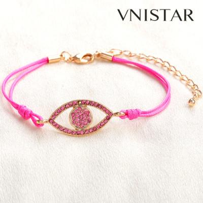 Free shipping! Charm bracelets, eye shaped charm bead, VSB090, eye size 15*36mm,  sold in 5pcs per pack