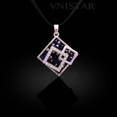 Free shipping! Necklaces, fashion necklace, square pendant, lady necklace, VN551, pendant size 29*29mm, sold in 2 pcs per pack