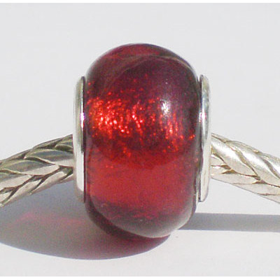 Free Shipping! Vnistar wholesale red glass beads, silver plated core beads, sold as 20pcs each pack