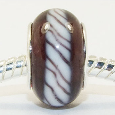 Free Shipping! Silver plated core glass bead PGB003, brown color fashion beads size in 14*9mm sold as 20pcs each pack