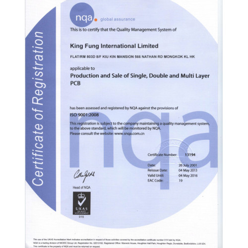 KF ISO9001: 2008