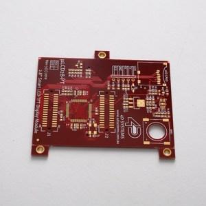 Печатная плата FR4 HDI с печатной платой с красной пайкой-маской