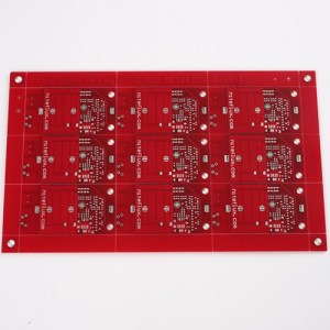 2layer Red Soldermask HAL-Free PCB
